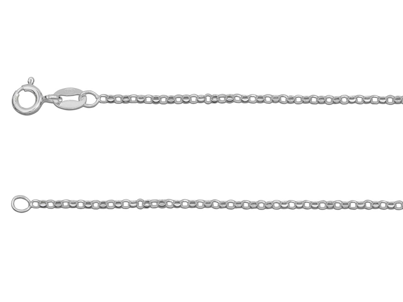 Silver sterling chain type Jaseron_diamantee
