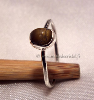 Silver ring Tiger eye's argent massif 925