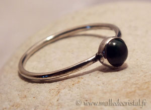 Silver ring Malachite argent massif 925