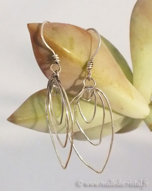 Earrings feuilles Silver sterling 925