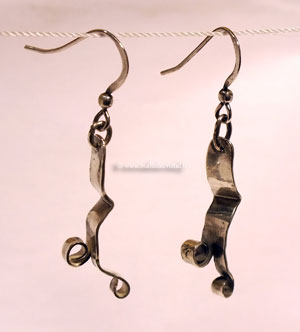 Earrings créateur Silver sterling 925