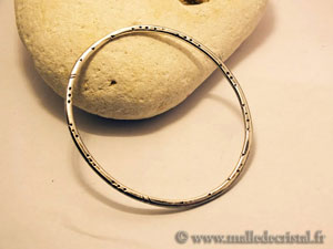 Bangle silver bracelet engraved