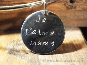 custom engraving medal silver bangle